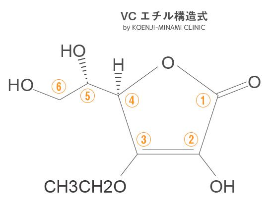 VCエチル構造式