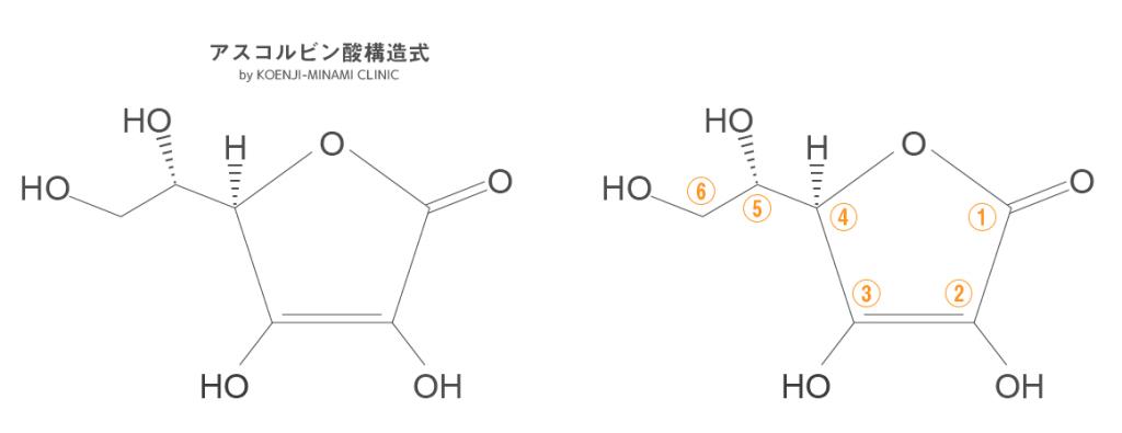 アスコルビン酸の構造式